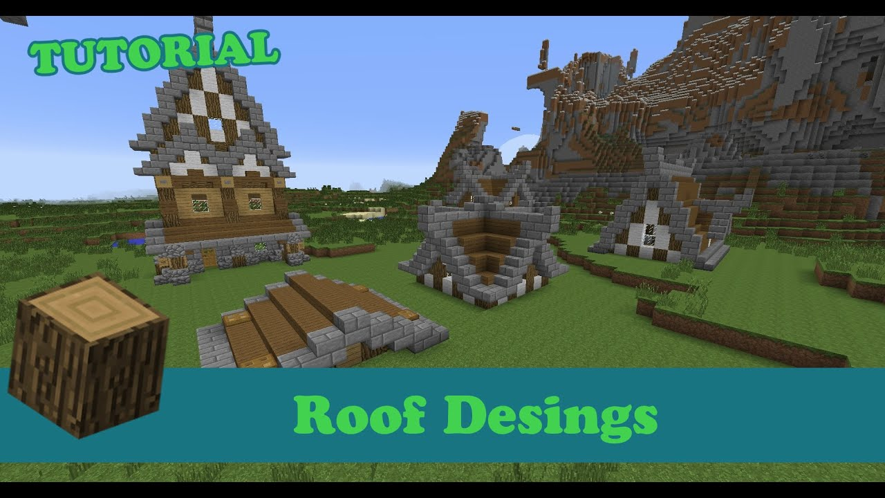 Tutorial Minecraft Roof Designs PC PS4 XBOX PE YouTube