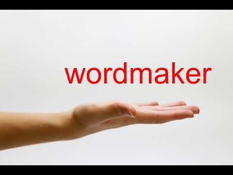 How to Pronounce wordmaker - American English