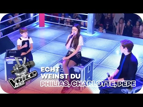 Weinst Du? - Echt (Philias, Pepe, Charlotte) | Battles | The Voice Kids 2018 | SAT.1