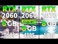 RTX 2060 SUPER vs RTX 2060 vs RTX 2070 Test in 8 Games