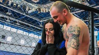 Man declared their love in love girl after winning (Poltava, Ukraine)