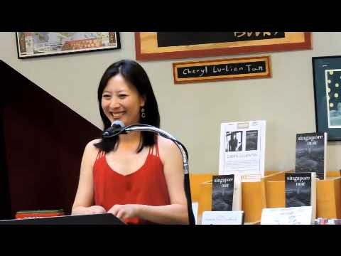 Cheryl Tan answers questions from Singapore Noir reading at Skylight Books in Los Feliz