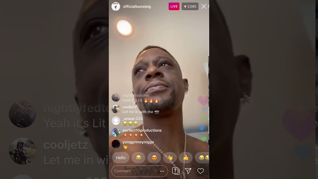 LIL BOOSIE ON IG LIVE TRYING TO GET GIRLS AND TRYING TO