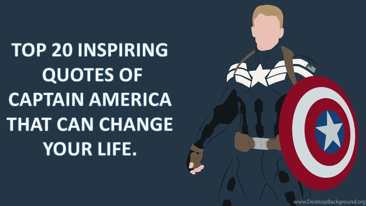 Top 20 Inspiring Quotes of Captain America// Captain Rogers