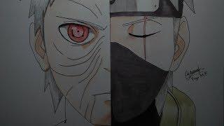 Speed drawing - Obito vs Kakashi (Naruto)
