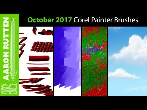 October 2017 New Corel Painter Brushes