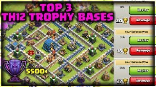 Top 3 Th12 Trophy Bases with 3 Infernos | Push to 5500+ | Anti Electro Drag | Clash of Clans