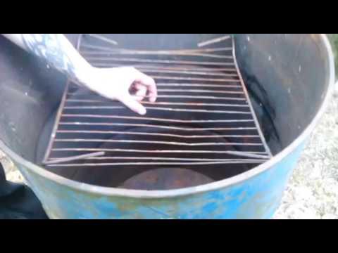 изготовление коптилки горячего копчения