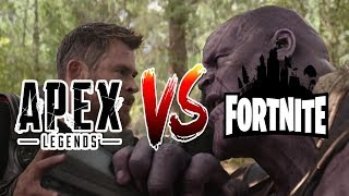 Fortnite vs Apex Legends/ Parodia / Thanos vs Thor Infinity War / 2019