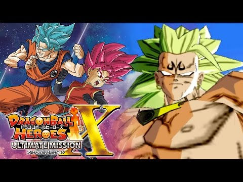 THE SHEER POWER OF MAJIN SUPER SAIYAN 3 BROLY!!!   Dragon Ball Heroes Ultimate Mission X Gameplay!