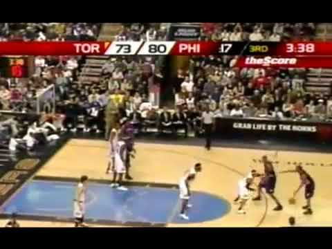 Allen Iverson and Rafer Alston pushing Donyell Marshall (2005) *Funny Scene