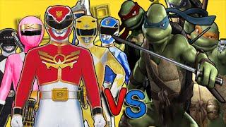 Tortugas Ninja Vs Power Rangers l UltraCombates De Rap Legen...
