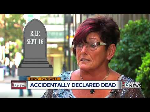 Woman accidentally declared dead