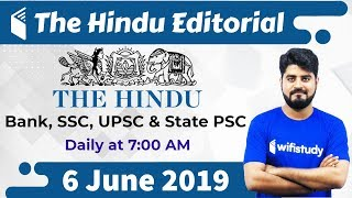 7:00 AM - The Hindu Editorial Analysis by Vishal Sir | 6 June 2019 | Bank, SSC, UPSC & State PSC