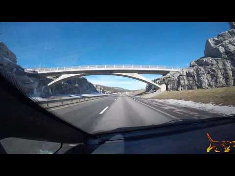 407 km Time lapse video - Ski to Helle Norway.