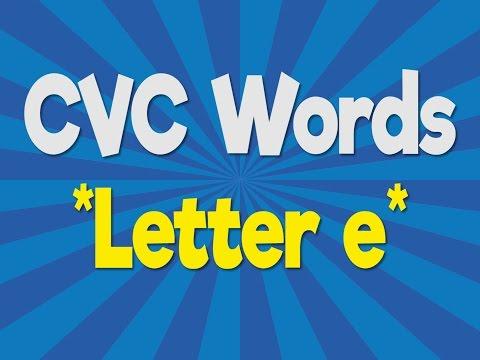 CVC Words   Letter e   Consonant Vowel Consonant   Phonics Song   Jack Hartmann