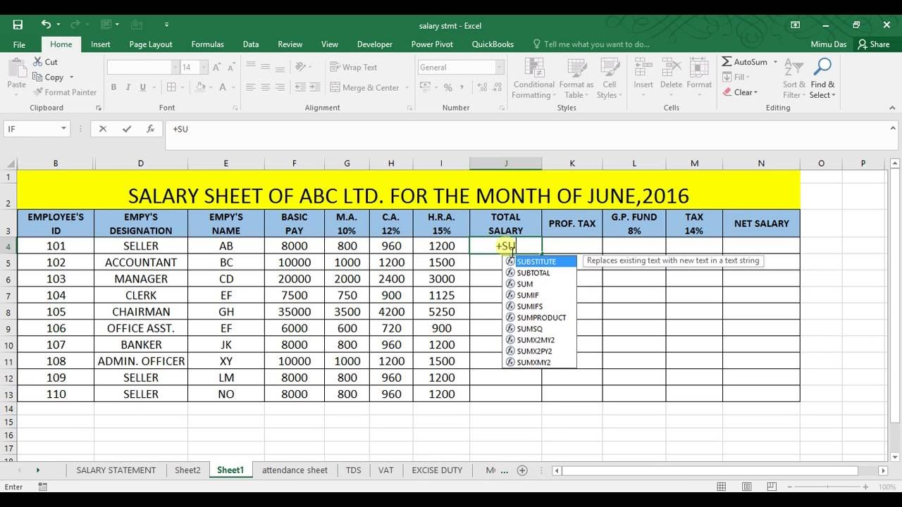 35 pdf SALARY SLIP FORMAT IN EXCEL WITH FORMULA ...