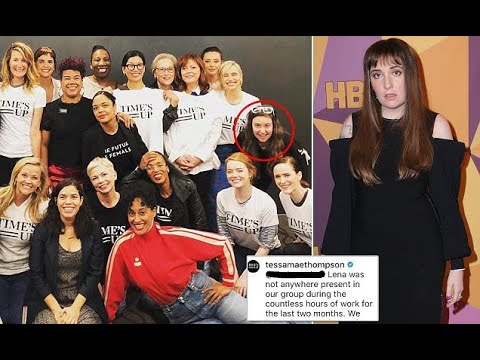 Lena Dunham under fire for showing up at Times Up event