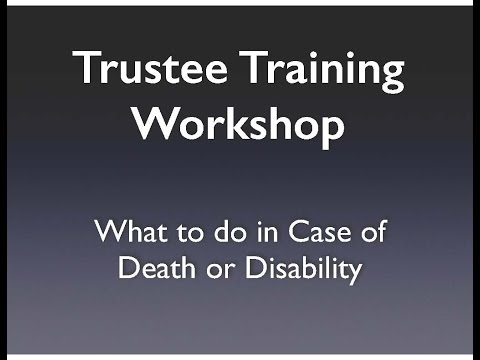 Trustee Training Workshop