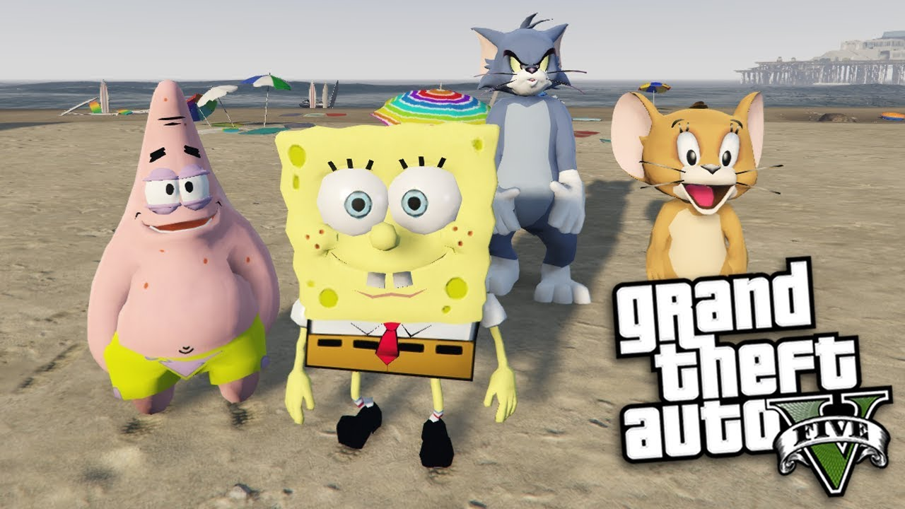 Gta  Mods Spongebob Patrick Vs Tom Jerry Mod Gta  Pc Mods Gameplay