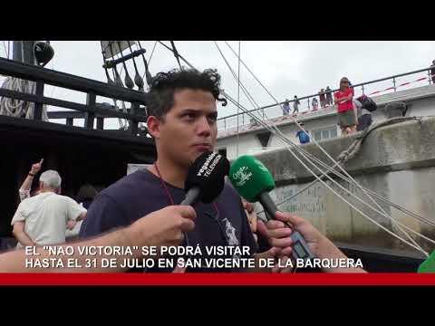 El Nao Victoria en el Puerto de San Vicente de la Barquera