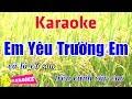 Em Yêu Trường Em - Karaoke HD || Beat Chuẩn ➤ Bến Thành Audio Video