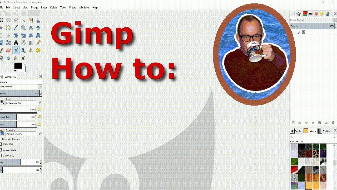 how to add patterns to gimp