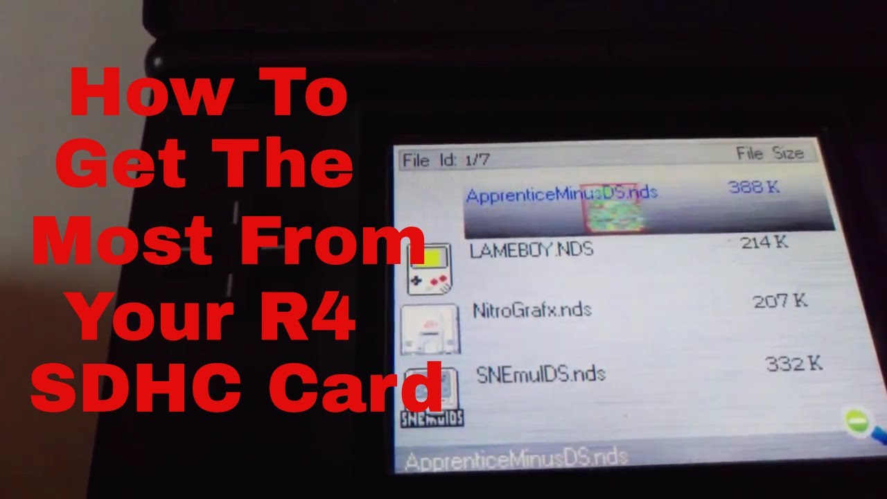Easy Tutorial - How To Get The Most From Your R4 SDHC 2017 Card