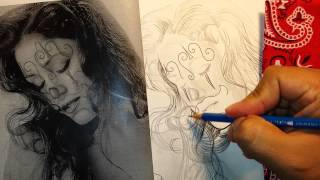 Drawing a chola. Gangster artwork.