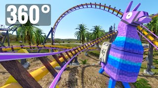Epic Roller Coaster 360° VR Fortnite 360 degree Experience Simulation video