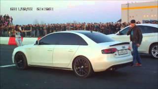 Гонки г.Оренбург BMW X6 vs AUDI