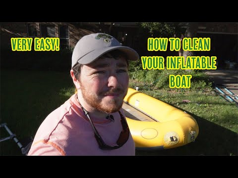 How To Clean An Inflatable Whitewater Raft Or Fishing Boat