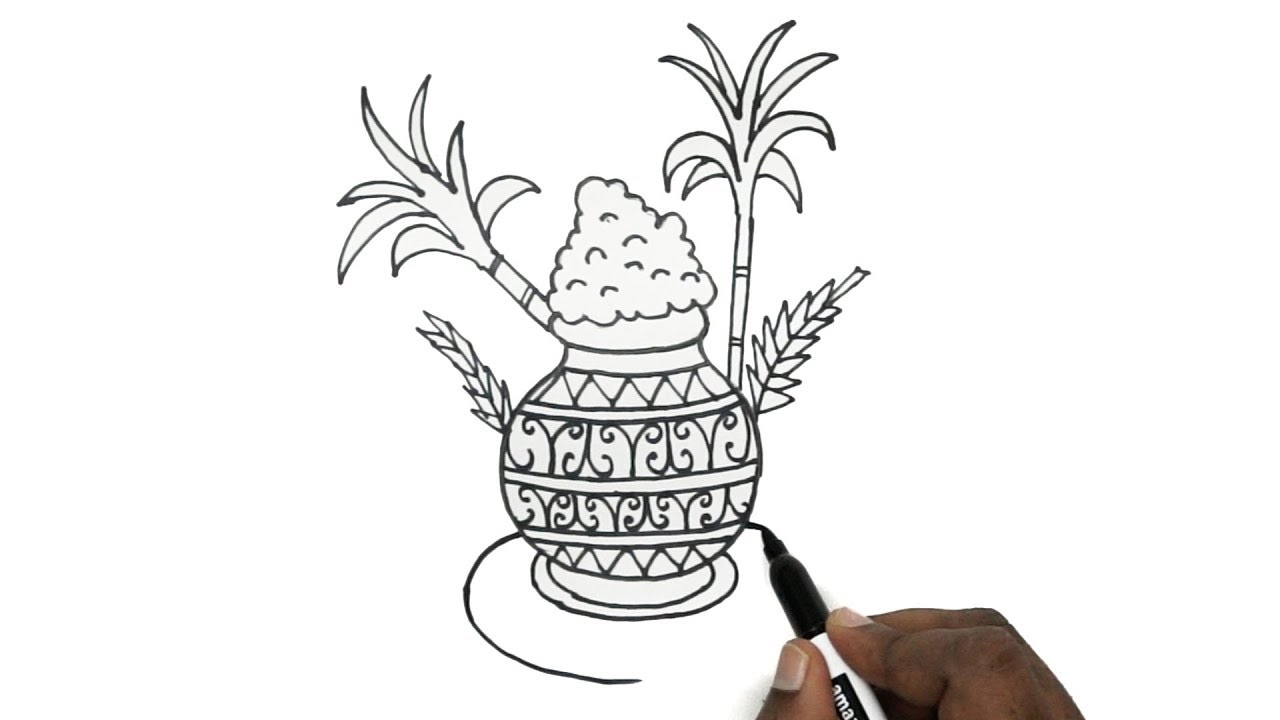 Pongal special drawing pongal special greeting card designs happy pongal