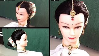 2 Wedding Hairstyles Bridal With Bun And Braid Gajra Decoration