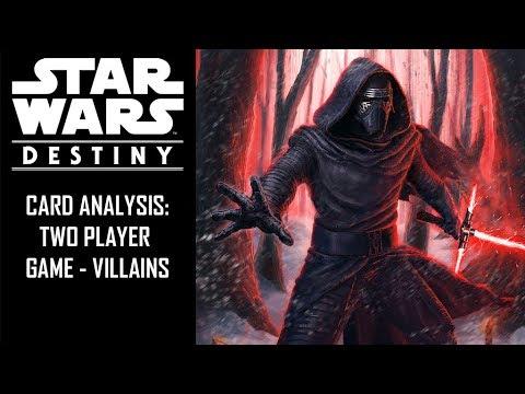 Star Wars: Destiny - 2PG - Villain Starter Deck Card Analysis