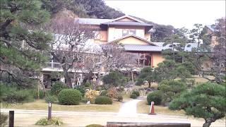 神奈川県大磯町にある吉田茂邸の庭園です。