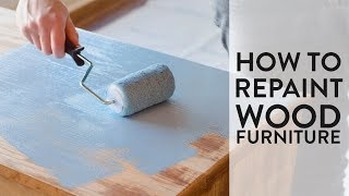 How to Repaint Furniture | Painted Dresser Makeover