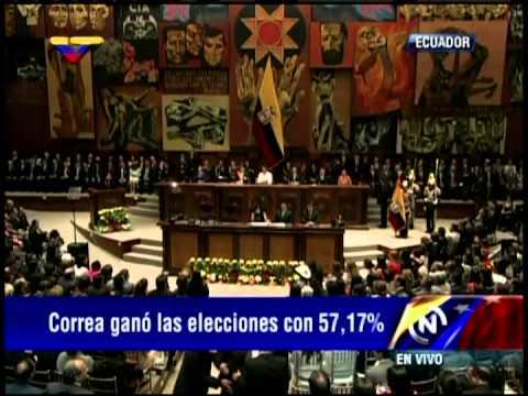 Emotiva juramentación de Rafael Correa este 24 de mayo de 2013
