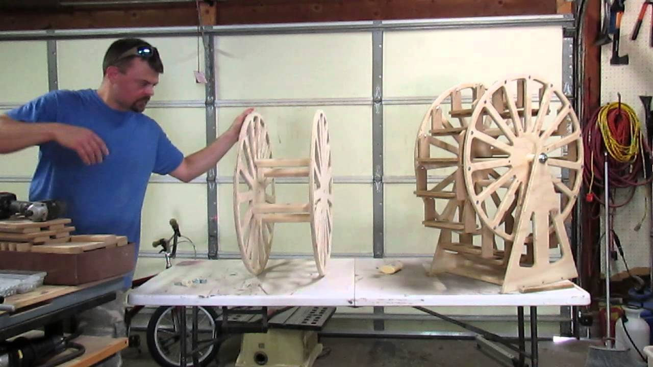 Wiele Wood Works Cupcake Ferris Wheel Assembly Youtube