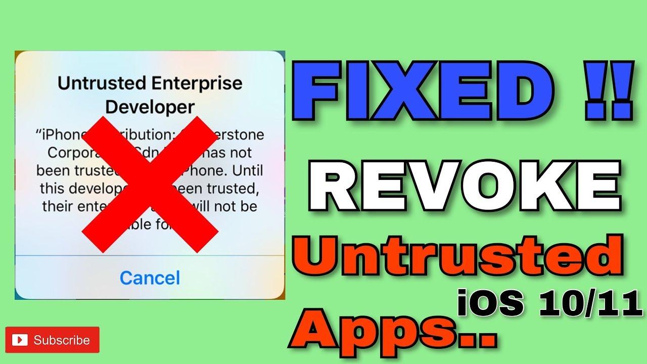 Verify Apps FIX Untrusted Enterprise Developer! (NO JAILBREAK) iOS 10/11