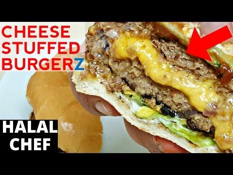 Cheese-Stuffed Burgers Recipe   Juicy Lucy Burger   Halal Chef