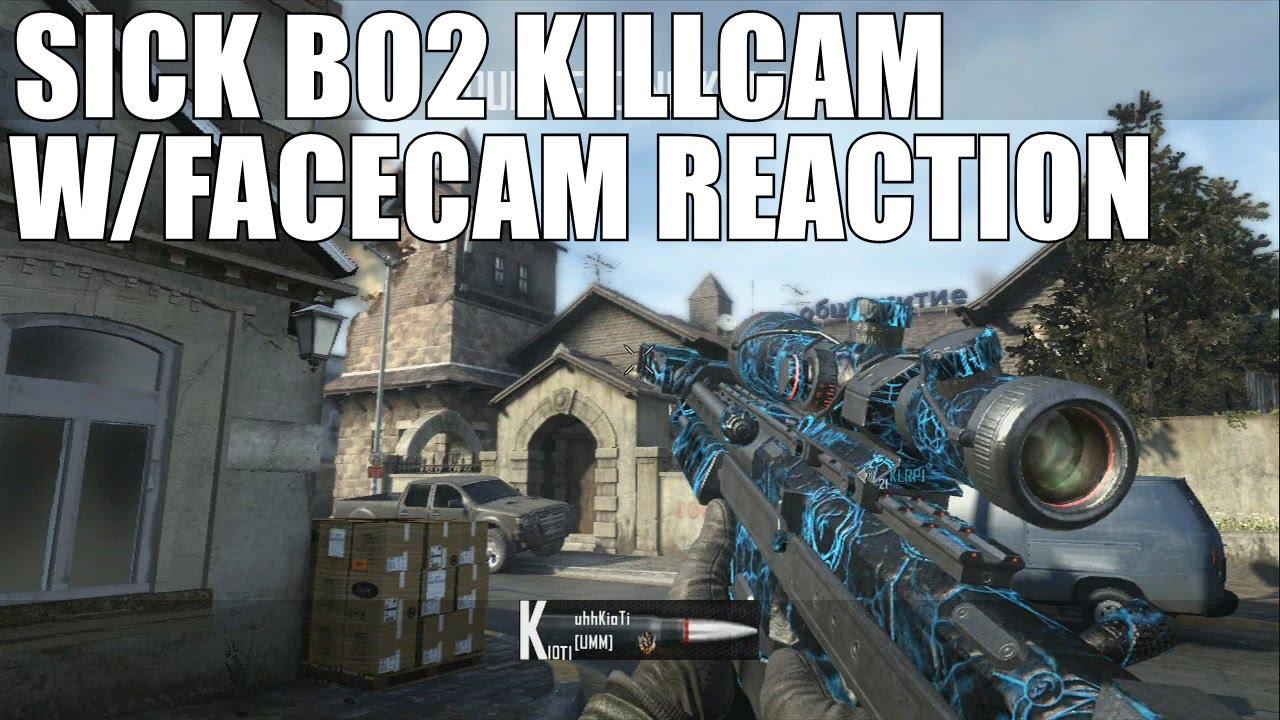 BEST Trickshot Reaction EVER? (BO2 Facecam Trickshot Killcam)