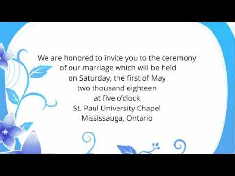 Wedding invitation wording etiquette examples youtube youtube premium stopboris Gallery