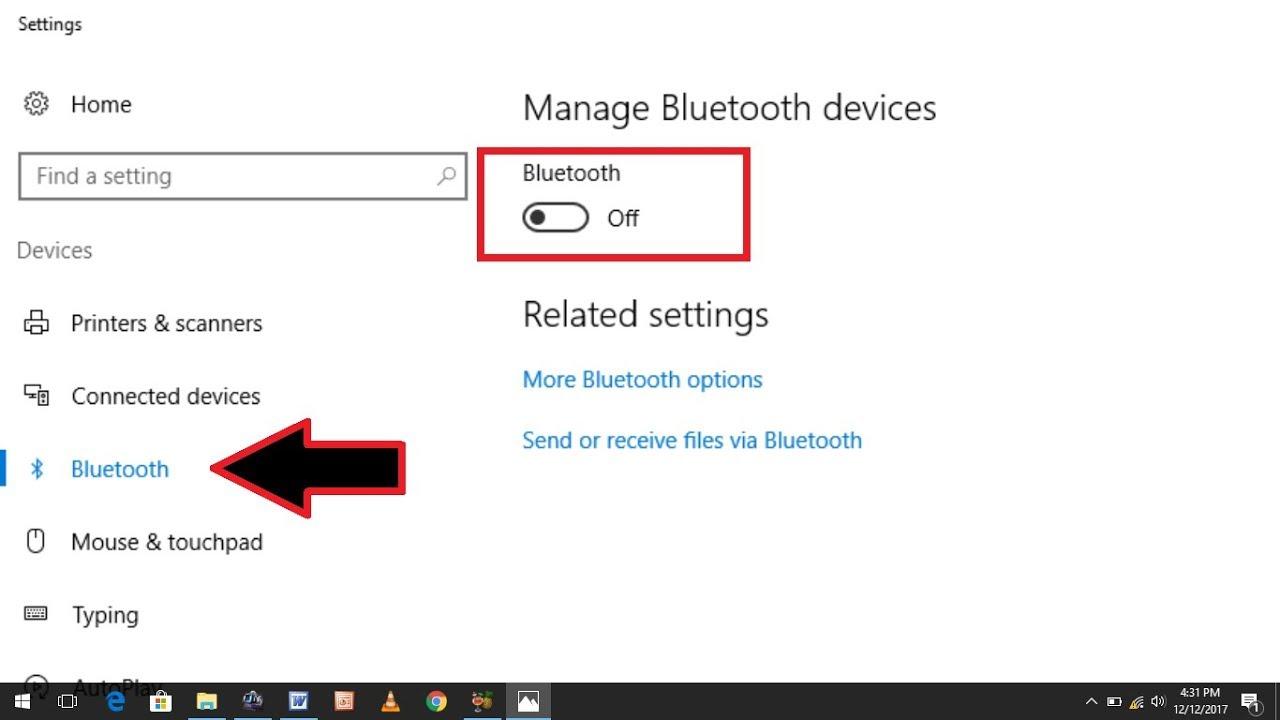 Cách Khắc Phục Lỗi Bluetooth Bị Mất Trên thiết đặt Settings hệ điều hành win 10