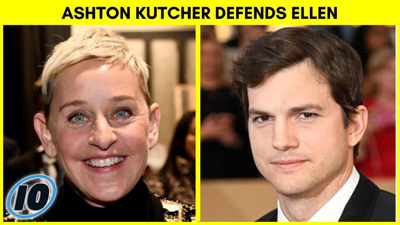 Ashton Kutcher Dragged Online For Defending Ellen DeGeneres