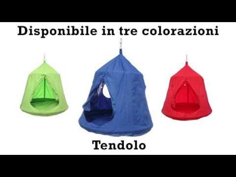 Tendolo tenda per dondolo con luci youtube - Sedia a dondolo sospesa kasanova ...
