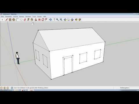 Google Sketchup 5 Ein Einfaches Haus Erstellen Youtube