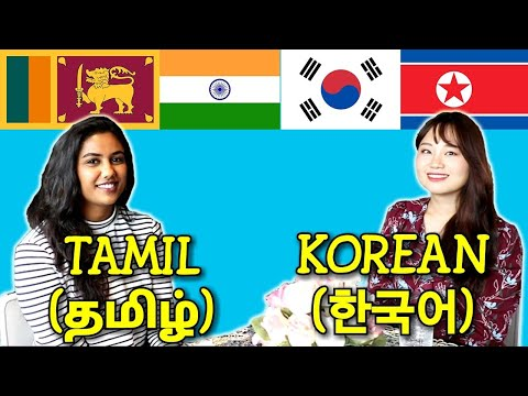 Similarities Between Tamil and Korean