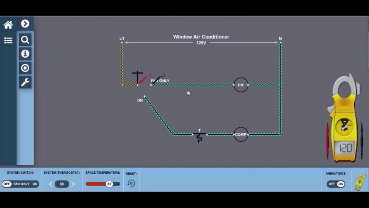 window unit wiring diagram hvac electricity [ 1280 x 720 Pixel ]