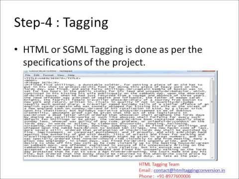 HTML Tagging Conversion Software QC Project SGML Tagging Proof Reading Software